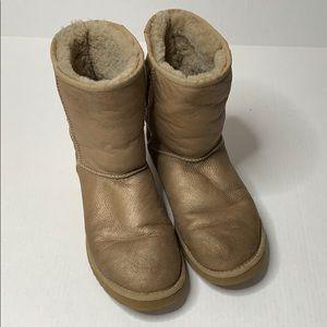 Ugg | Classic Short | Metallic Gold | Boot